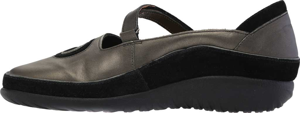 Women's Naot Matai Mary Jane, Metal Leather/Black Suede, large, image 3