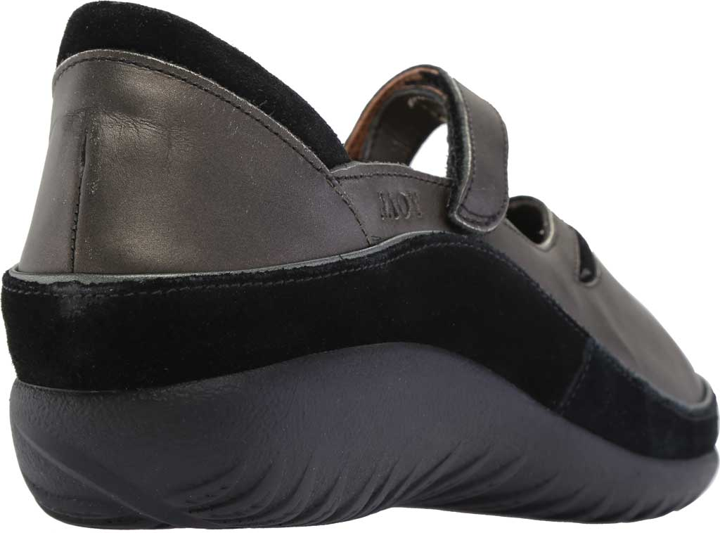 Women's Naot Matai Mary Jane, Metal Leather/Black Suede, large, image 5