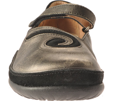 Women's Naot Matai Mary Jane, Metal Leather/Black Suede, large, image 4