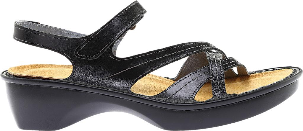 Women's Naot Paris Sandal, Black Madras Leather, large, image 2