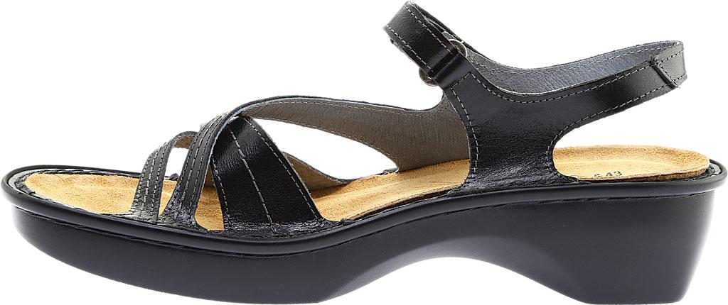 Women's Naot Paris Sandal, Black Madras Leather, large, image 3