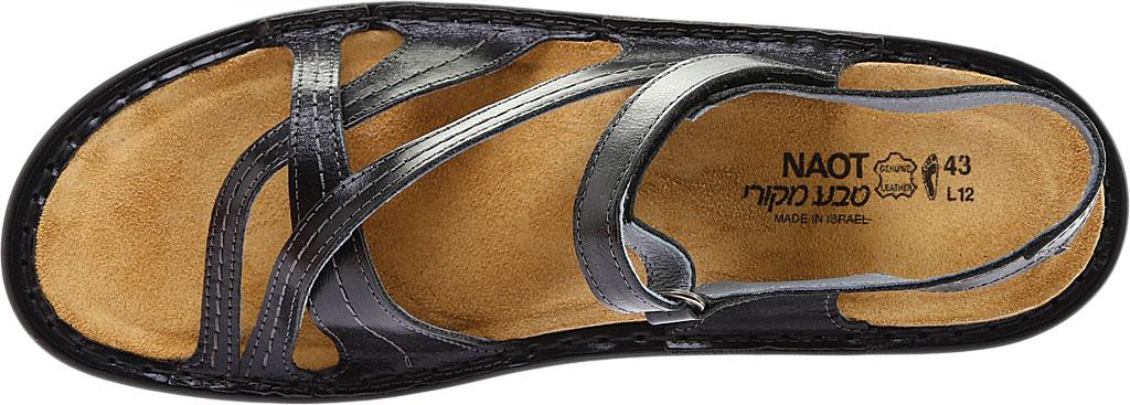 Women's Naot Paris Sandal, Black Madras Leather, large, image 6