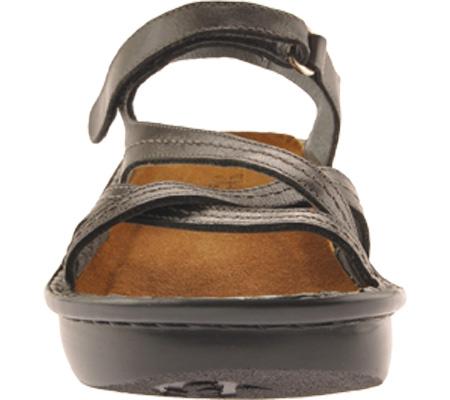 Women's Naot Paris Sandal, Black Madras Leather, large, image 4