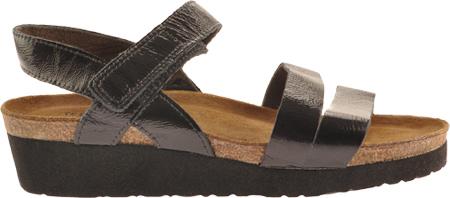 Women's Naot Kayla Sandal, Black Patent Leather, large, image 2