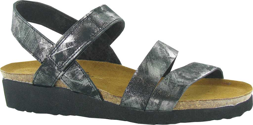 Women's Naot Kayla Sandal, Metallic Onyx Leather, large, image 1