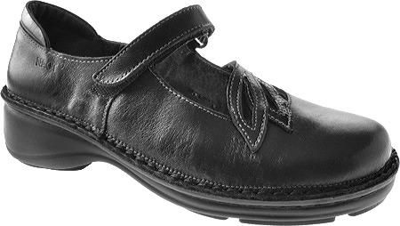 Women's Naot Primrose, Black Madras/Black Patent Leather, large, image 1