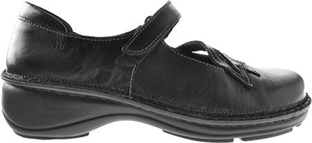Women's Naot Primrose, Black Madras/Black Patent Leather, large, image 2