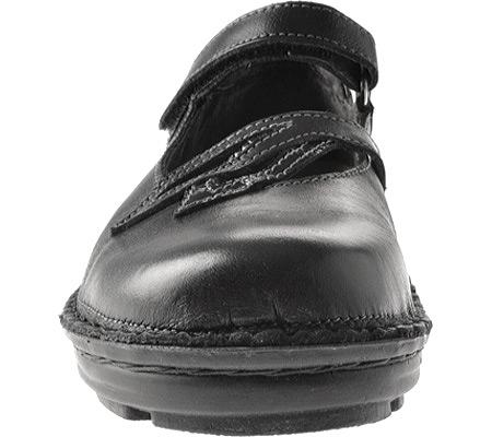 Women's Naot Primrose, Black Madras/Black Patent Leather, large, image 4