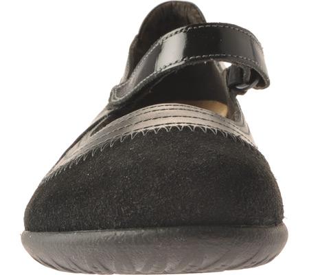 Women's Naot Kirei Mary Jane, Black Madras/Black Suede/Black Patent Leather, large, image 4