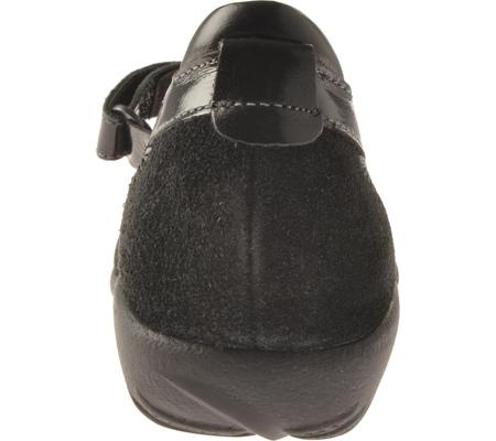 Women's Naot Kirei Mary Jane, Black Madras/Black Suede/Black Patent Leather, large, image 5