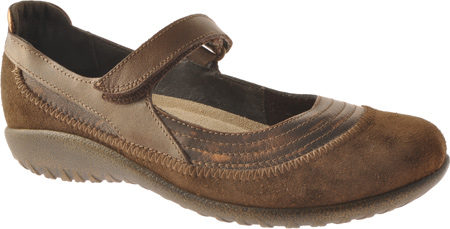 Women's Naot Kirei Mary Jane, Burnt Copper/Cocoa Suede/Antique Copper Leather, large, image 1