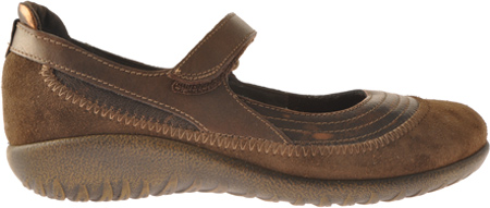 Women's Naot Kirei Mary Jane, Burnt Copper/Cocoa Suede/Antique Copper Leather, large, image 2