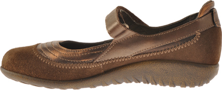 Women's Naot Kirei Mary Jane, Burnt Copper/Cocoa Suede/Antique Copper Leather, large, image 3