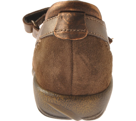 Women's Naot Kirei Mary Jane, Burnt Copper/Cocoa Suede/Antique Copper Leather, large, image 5