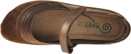 Women's Naot Kirei Mary Jane, Burnt Copper/Cocoa Suede/Antique Copper Leather, large, image 6