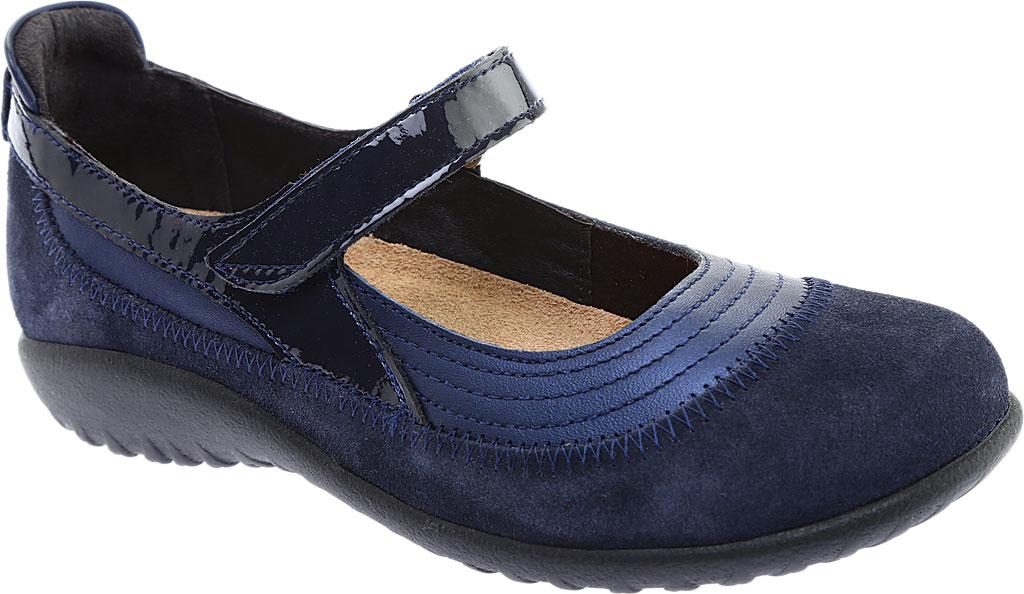 Women's Naot Kirei Mary Jane, Polar Sea Leather/Blue Velvet Suede/Navy Patent, large, image 1