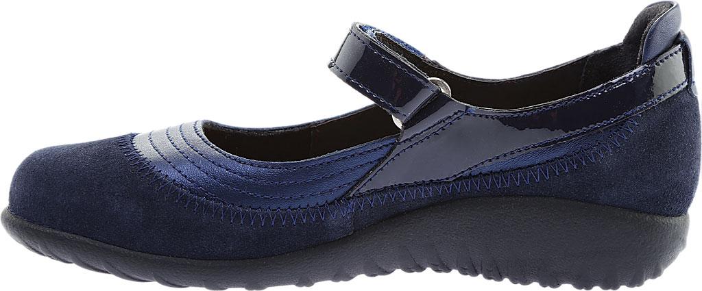 Women's Naot Kirei Mary Jane, Polar Sea Leather/Blue Velvet Suede/Navy Patent, large, image 3
