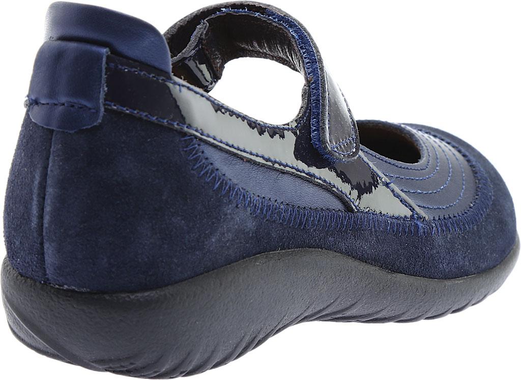Women's Naot Kirei Mary Jane, Polar Sea Leather/Blue Velvet Suede/Navy Patent, large, image 4