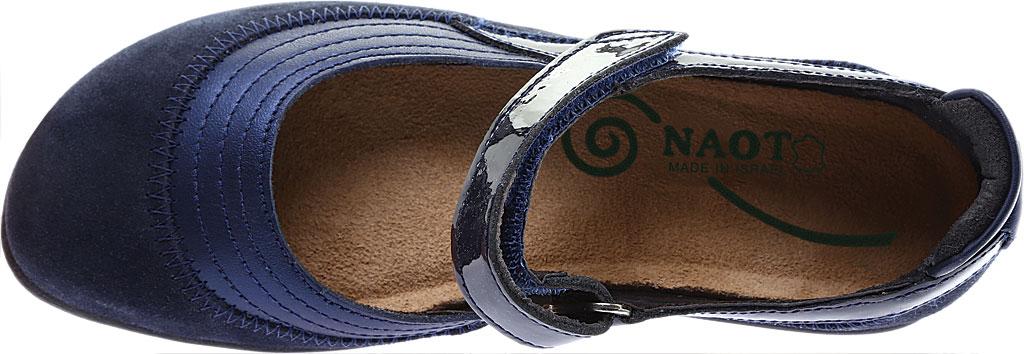 Women's Naot Kirei Mary Jane, Polar Sea Leather/Blue Velvet Suede/Navy Patent, large, image 5
