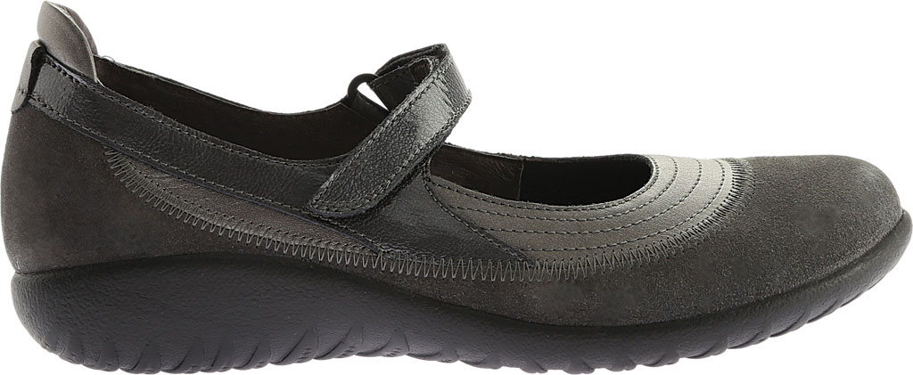 Women's Naot Kirei Mary Jane, Sterling Leather/Grey Suede/Grey Patent Leather, large, image 2