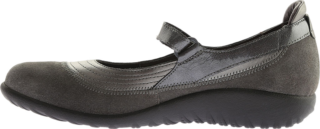 Women's Naot Kirei Mary Jane, Sterling Leather/Grey Suede/Grey Patent Leather, large, image 3