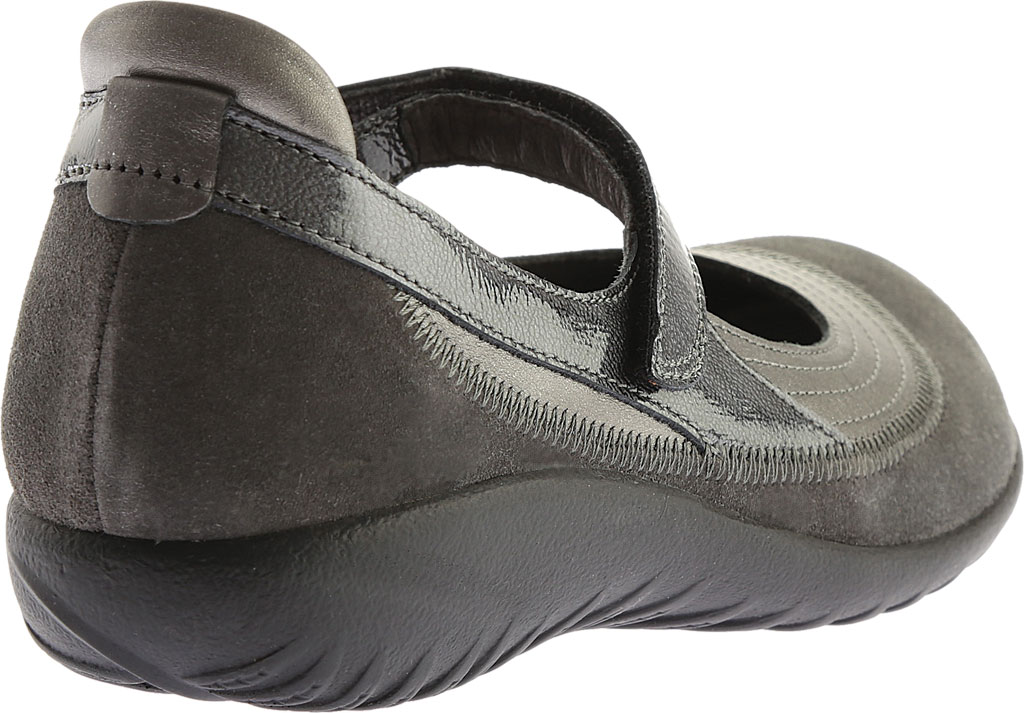 Women's Naot Kirei Mary Jane, Sterling Leather/Grey Suede/Grey Patent Leather, large, image 4