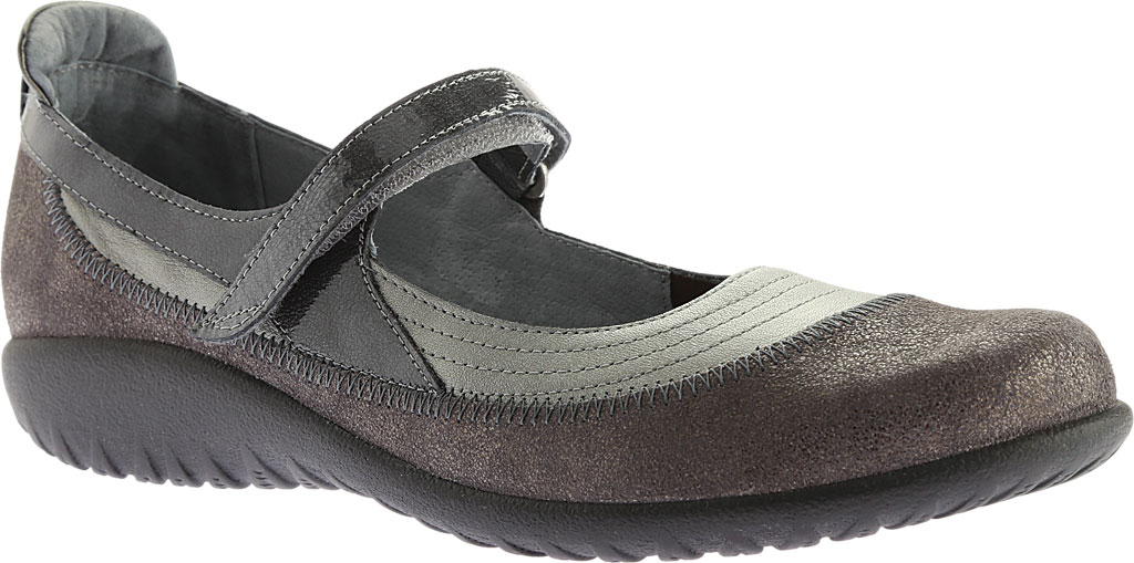 Women's Naot Kirei Mary Jane, Sterling/Gray Shimmer Leather/Gray Patent, large, image 1