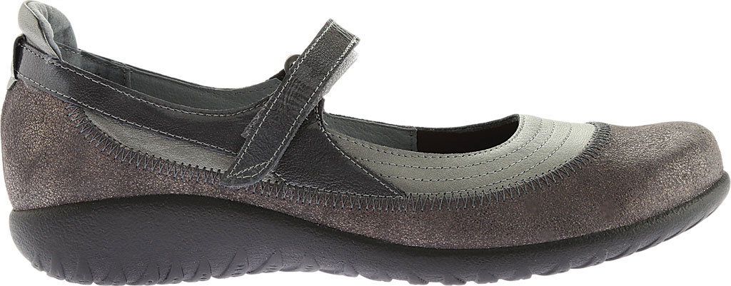 Women's Naot Kirei Mary Jane, Sterling/Gray Shimmer Leather/Gray Patent, large, image 2
