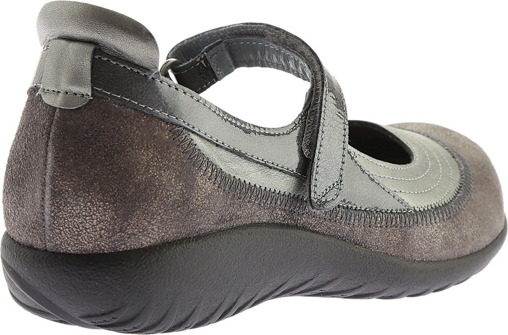 Women's Naot Kirei Mary Jane, Sterling/Gray Shimmer Leather/Gray Patent, large, image 4