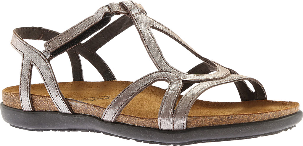 Women's Naot Dorith Sandal, Silver Threads Leather, large, image 1