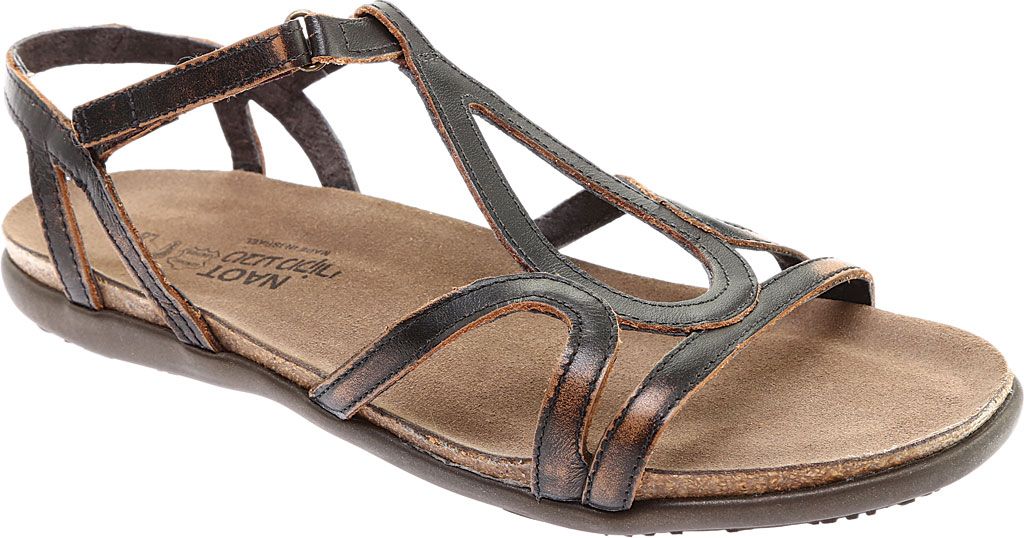 Women's Naot Dorith Sandal, Volcanic Brown Leather, large, image 1