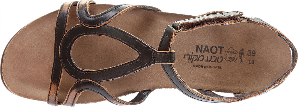 Women's Naot Dorith Sandal, Volcanic Brown Leather, large, image 5