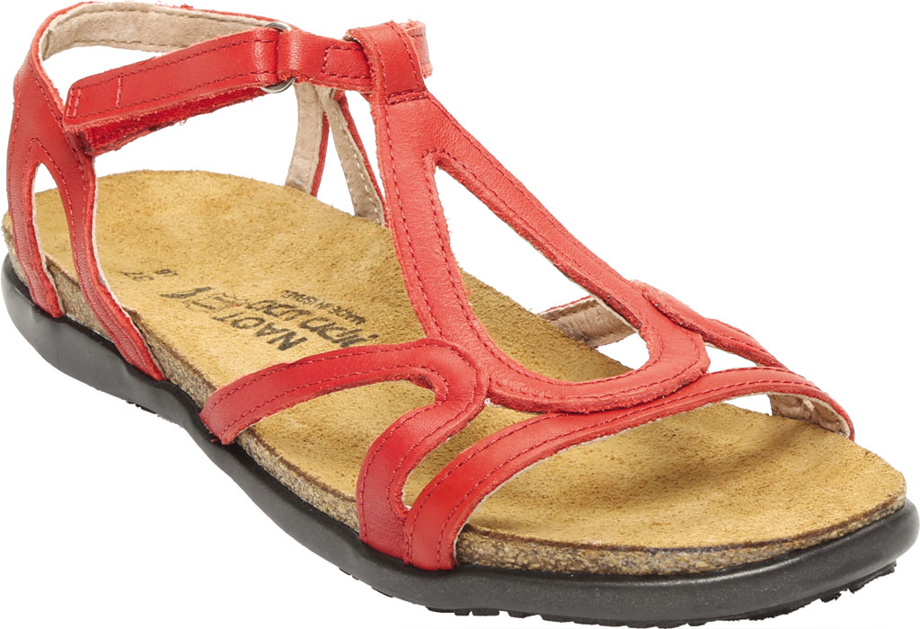 Women's Naot Dorith Sandal, Kiss Red Leather, large, image 1