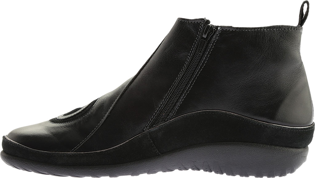 Women's Naot Chi, Black Madras Leather/Black Suede, large, image 3