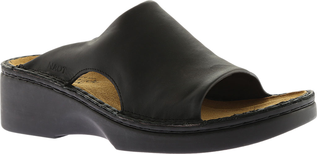 Women's Naot Rome, Black Matte Leather, large, image 1