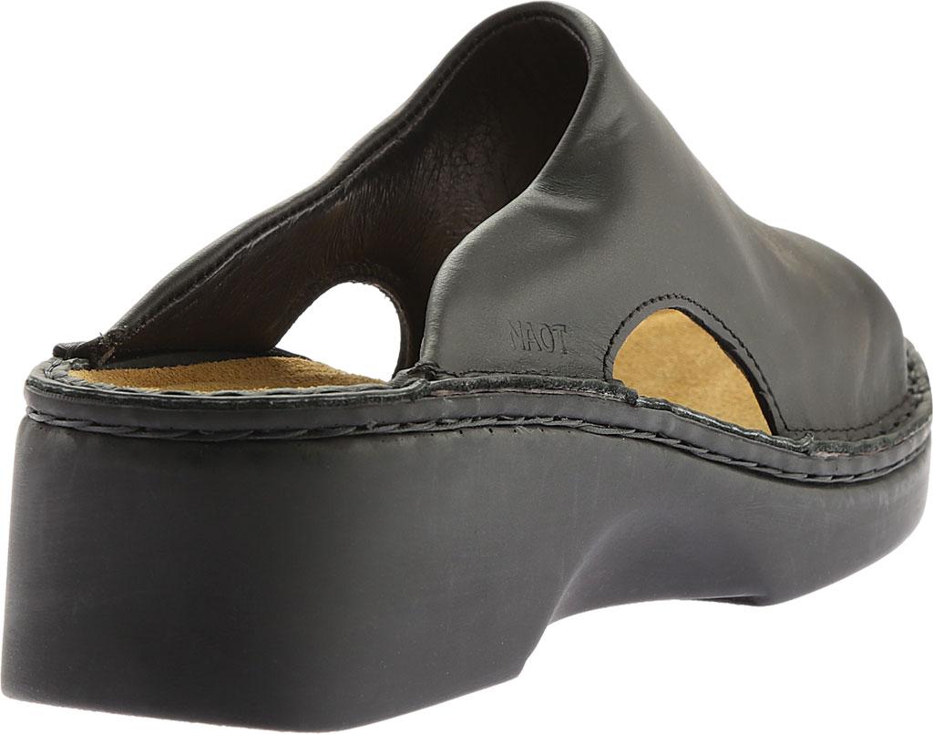Women's Naot Rome, Black Matte Leather, large, image 4