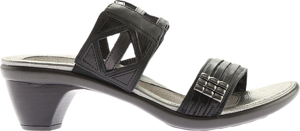 Women's Naot Afrodita, Black Gloss Leather/Jet Black/Black Pearl Leather, large, image 2