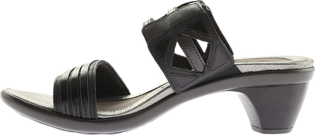 Women's Naot Afrodita, Black Gloss Leather/Jet Black/Black Pearl Leather, large, image 3