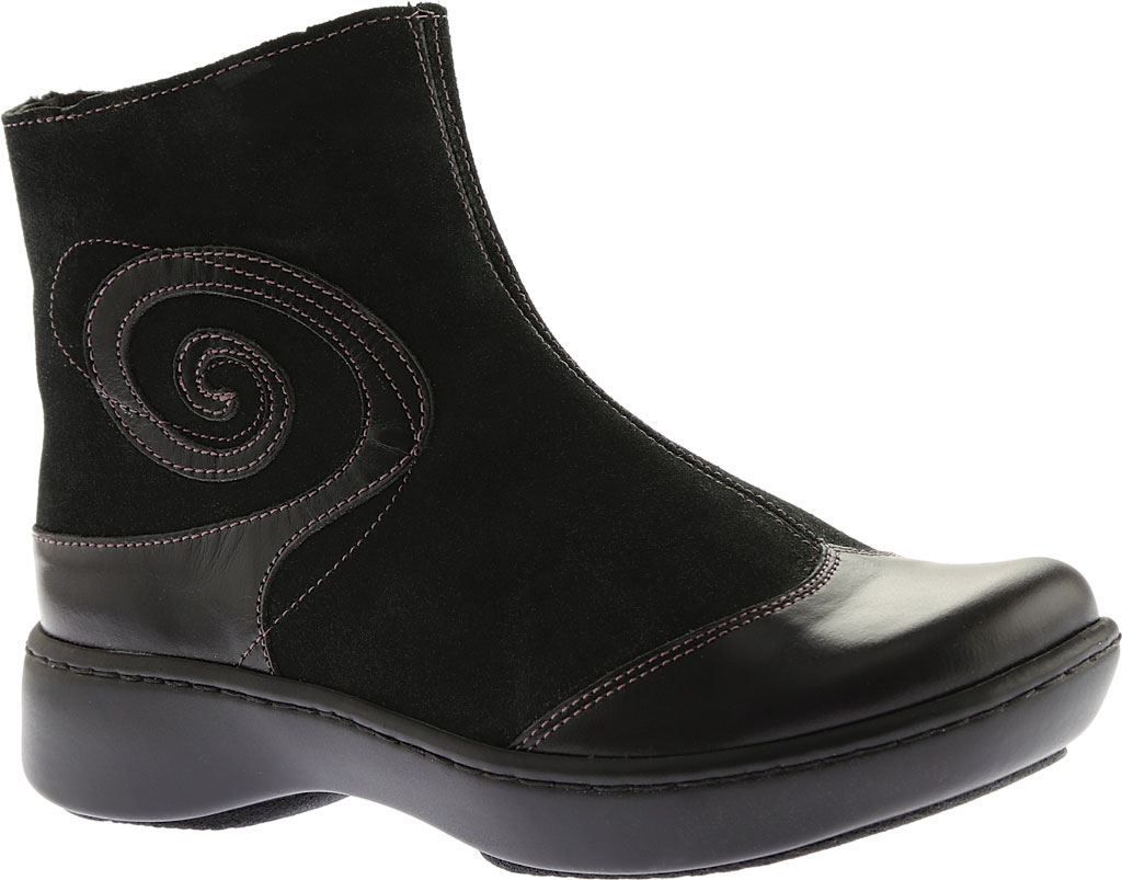 Women's Naot Oyster, Midnight Black Leather/Black Suede, large, image 1
