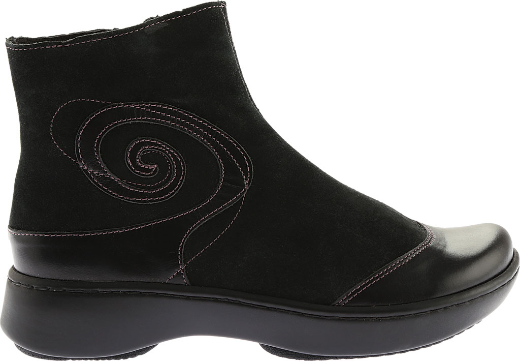 Women's Naot Oyster, Midnight Black Leather/Black Suede, large, image 2
