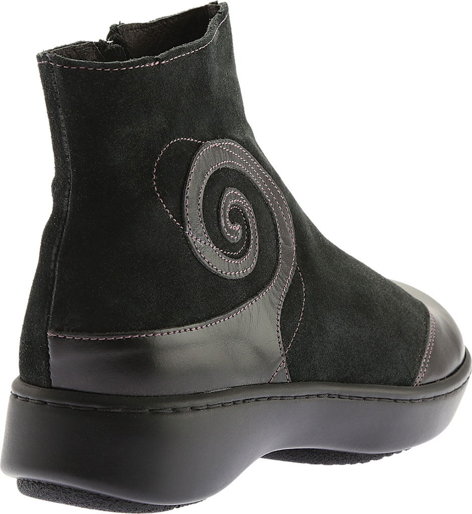 Women's Naot Oyster, Midnight Black Leather/Black Suede, large, image 4