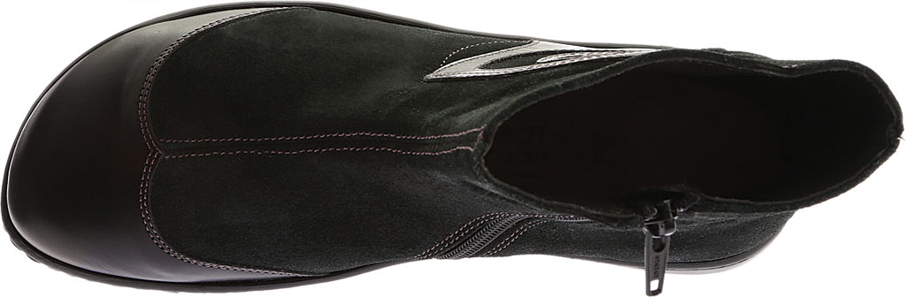Women's Naot Oyster, Midnight Black Leather/Black Suede, large, image 5