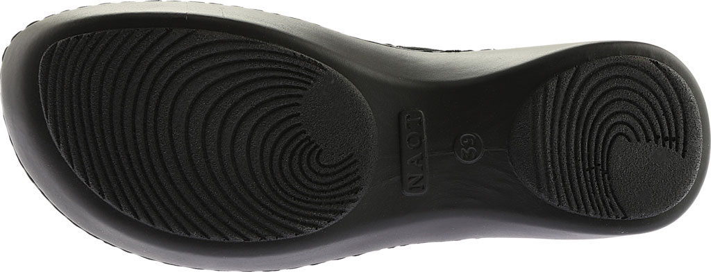 Women's Naot Oyster, Midnight Black Leather/Black Suede, large, image 6
