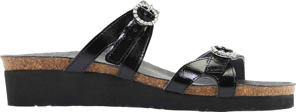 Women's Naot Kate Wedge Slide, Black Luster Leather, large, image 2