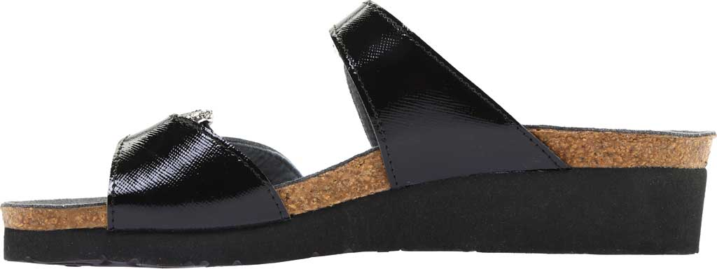 Women's Naot Kate Wedge Slide, Black Luster Leather, large, image 3