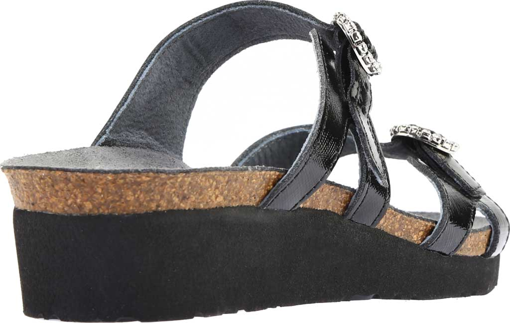 Women's Naot Kate Wedge Slide, Black Luster Leather, large, image 4