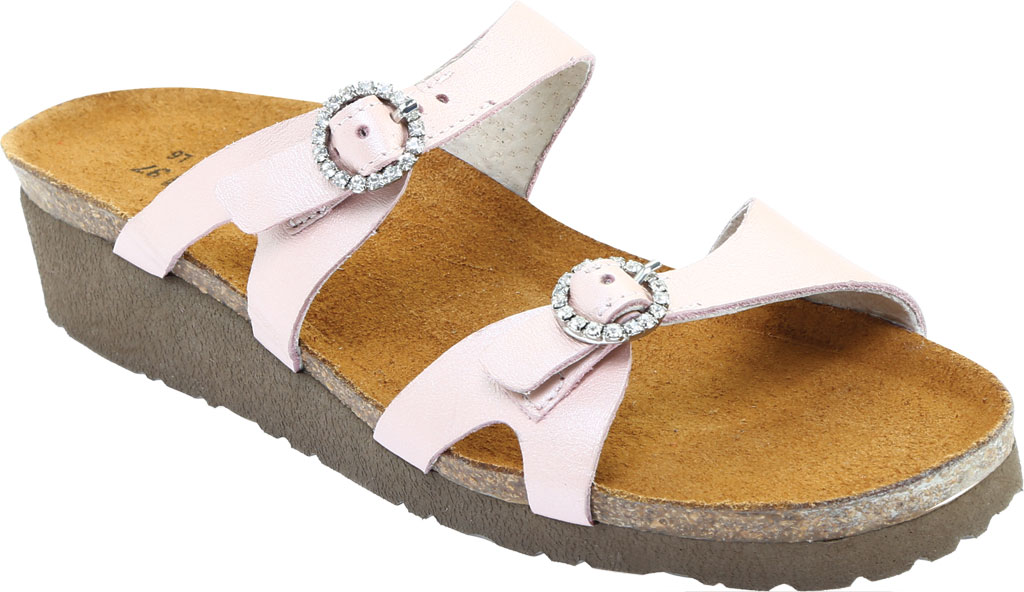 Women's Naot Kate Wedge Slide, Pearl Rose Leather, large, image 1