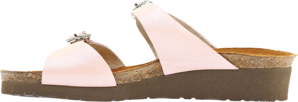 Women's Naot Kate Wedge Slide, Pearl Rose Leather, large, image 3