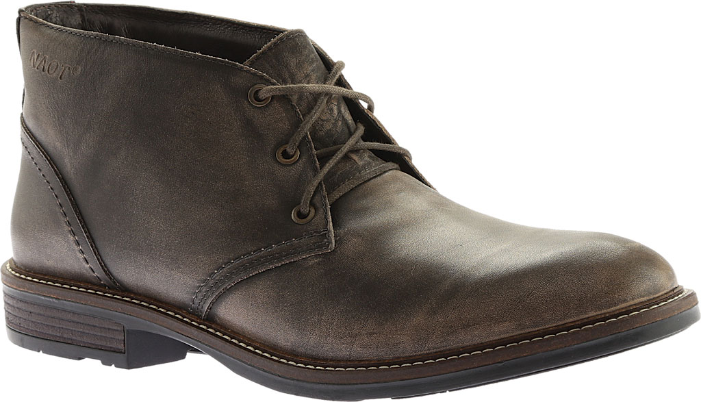 Men's Naot Pilot, Vintage Grey Leather, large, image 1