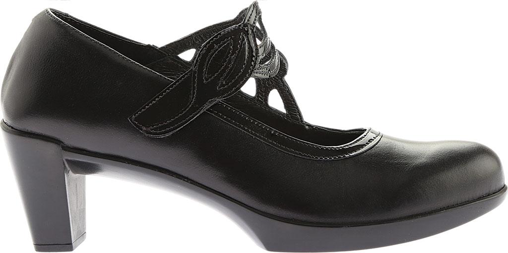 Women's Naot Luma, Black Madras Leather/Crinkle Patent Leather, large, image 2